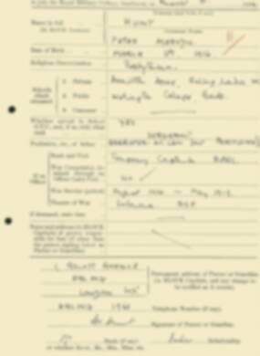 RMC Form 18A Personal Detail Sheets Aug 1934 Intake - page 112