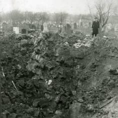Bomb Damage  to Harton Cemetery