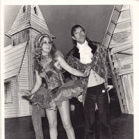 Photograph - two unknown performers on stage set
