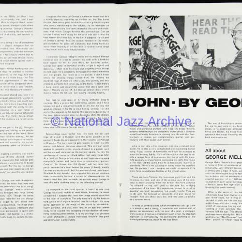 George Melly & John Chilton's Feetwarmers, Belgrade Theatre, Coventry - March 27th 1977 003