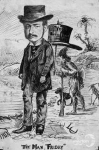 George Pitt and E.Powell: Depicted as Robinson Crusoe and Man Friday