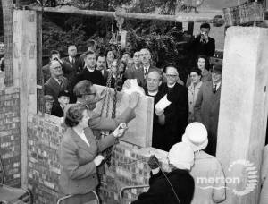 Stone laying ceremony, Methodist Church, Cricket Green, Mitcham.