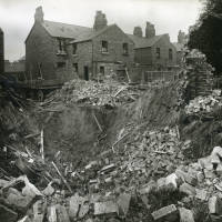 stable, Langdale Street, bomb damage, Blitz