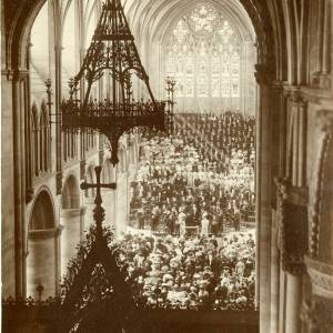 Three Choirs Festival, Hereford - View of Cathedral Interior, 1903