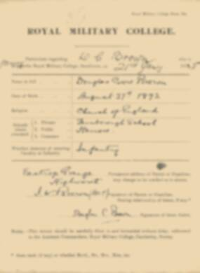 RMC Form 18A Personal Detail Sheets Jan 1915 Intake - page 51