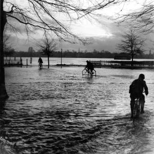 Cycling through floods