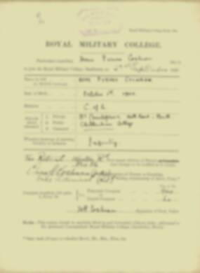 Home Cochran -  RMC Form 18A Personal Detail Sheets Jan & Sept 1920 Intake