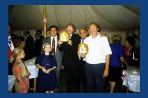Harry Woodley, John Elwin, Jimmy Bottan and Julian Robey at Mitcham Fair