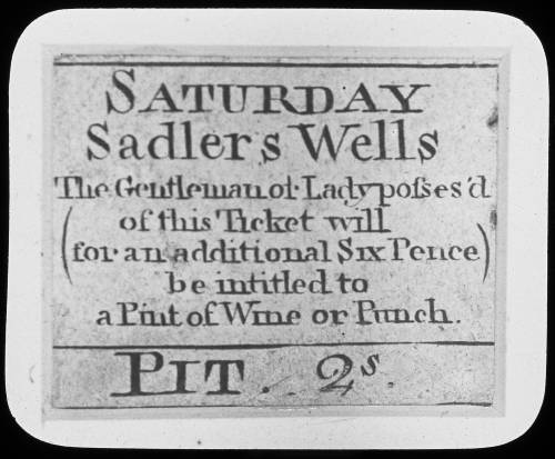 A ticket to saddlers wells