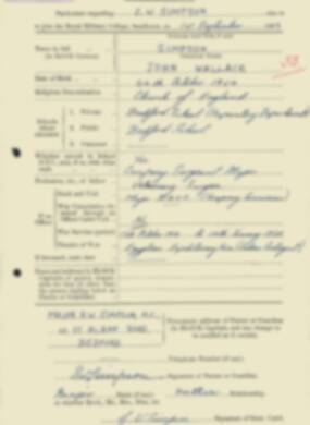 RMC Form 18A Personal Detail Sheets Feb & Sept 1933 Intake - page 283