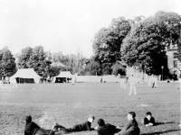 Cricket match on Lower Green, Mitcham