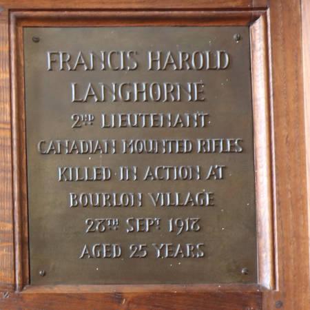 Memorial Plaque - Langhorne