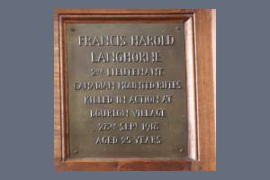 Memorial Plaque - Langhorne