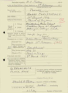 RMC Form 18A Personal Detail Sheets Feb & Sept 1933 Intake - page 110
