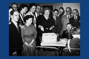 Celebrating the anniversary of Morden Spastics Society, 1956