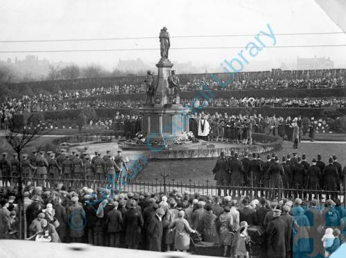 Bootle War Memorial Armistice Day c1925