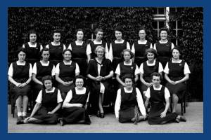 Wimbledon County School for Girls: Miss Wade and Prefects