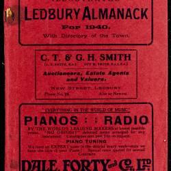 Tilley's Ledbury Almanack 1940