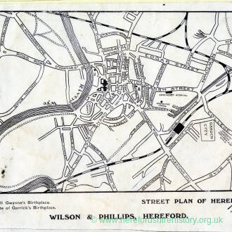 Street plan of Hereford 1912