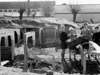 Nelson Gardens, Merton: Children playing in former air raid shelters