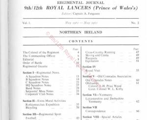 9th-12th Lancers, 1961
