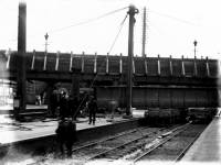 Removal of original bridge, Wimbledon Station