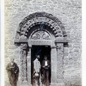 St Mary and St David's Church, Kilpeck door, 1891