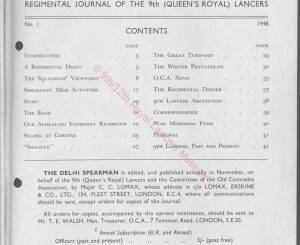 9th Lancers, 1948