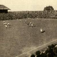 19480825 Photograph View of North Stand and Milton End