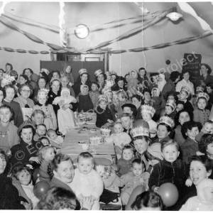 Child Welfare Clinic, High Green, Christmas party c. 1950.