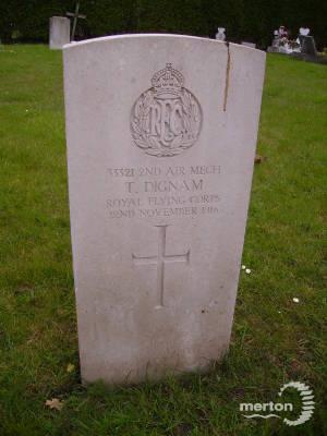 Gravestone of Thomas Dignam