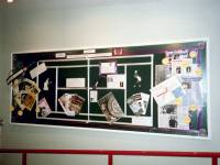 Display about the Wimbledon Tennis championships by Heather Constance, Wimbledon Library. The year of the 100th Ladies championship.