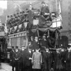 Inauguration of the Electric Tramways