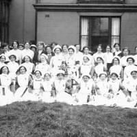 Nursing staff at the Auxiliary Military Hospital Bootle
