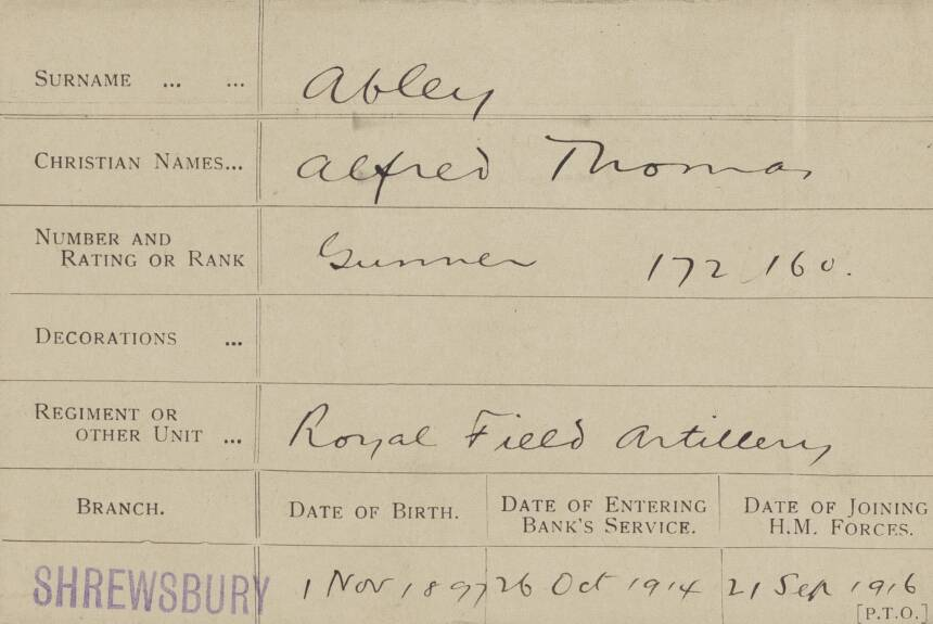 More information about Alfred Thomas Abley follows