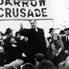 David Riley speaking at Jarrow Crusade
