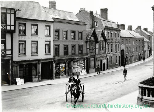 King Street, Hereford, looking West from corner of Broad Street, c.1900