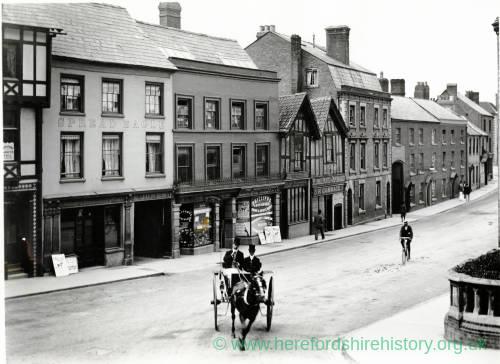King Street, Hereford, looking West from corner of Broad Street, c.1900