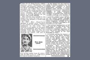 Newspaper Extract - Miss Hope-Clarke