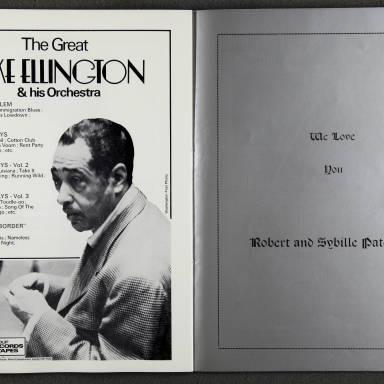 Duke Ellington Orchestra 'Sacred Concert' – Westminster  Abbey 24th   October 1973 014