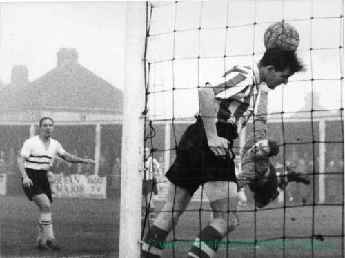 Goalmouth incident at Edgar Street, 1950s.
