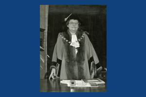 Alderman Mrs Julia Ericson Mayor of Mitcham 1949-50