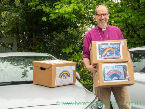 Bishop of Hereford Rt Rev Richard Jackson and home safe boxes 2