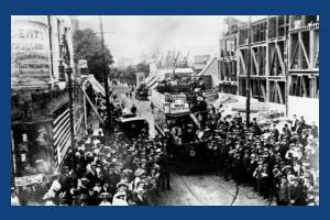 Launch of the tram service between Raynes Park and Wimbledon Hill Road