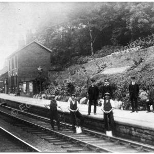 Westwood Railway Station and Staff.