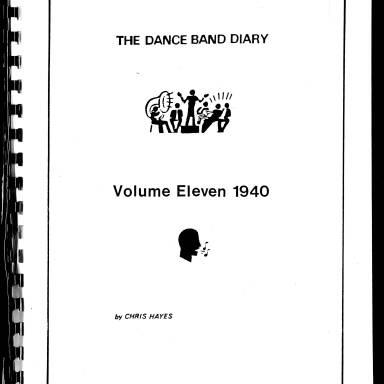 Dance Band Diaries Volume 11 1940