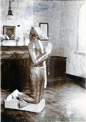 Welsh Bicknor, wooden effigy of Franciscan Friar