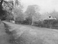Sutton Road: View of old mill and Wandle bridge