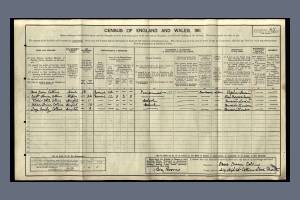 Collins 1911 census 214 High Street Colliers Wood