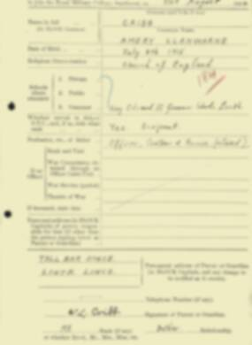 RMC Form 18A Personal Detail Sheets Aug 1934 Intake - page 45